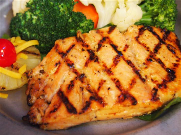 grilled chicken with roasted vegetables