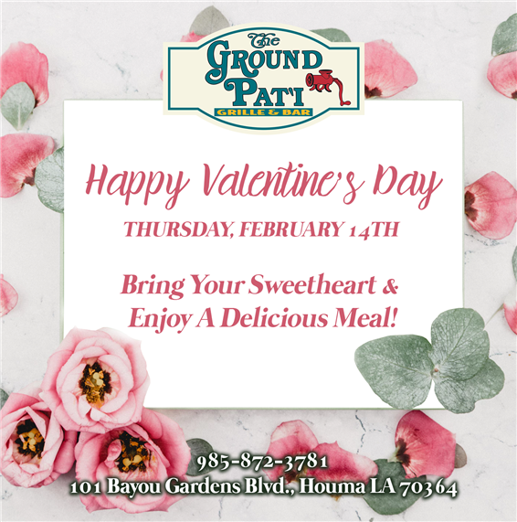 valentines day thursday february 14th bring your sweetheart and enjoy a delciious meal