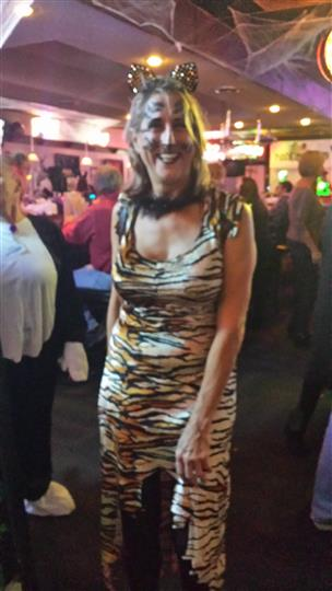 woman wearing a tiger costume