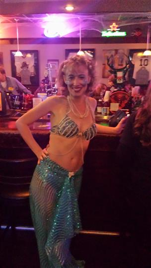 woman dressed as a mermaid