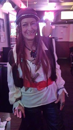 woman dressed as a pirate
