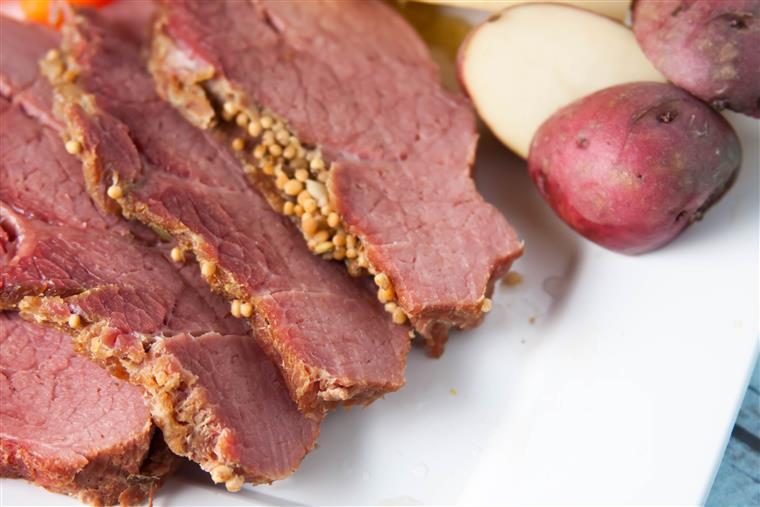 Corned beef and potatoes