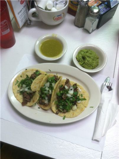 tacos with various vegetable toppings