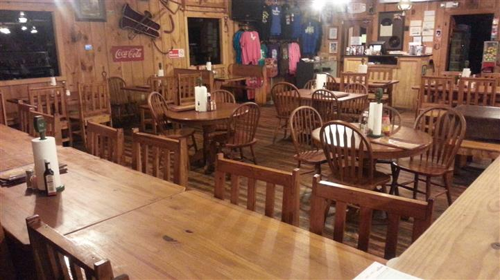 tables and chairs in the restaurant