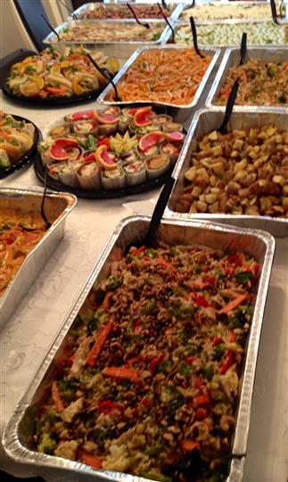 various catering trays