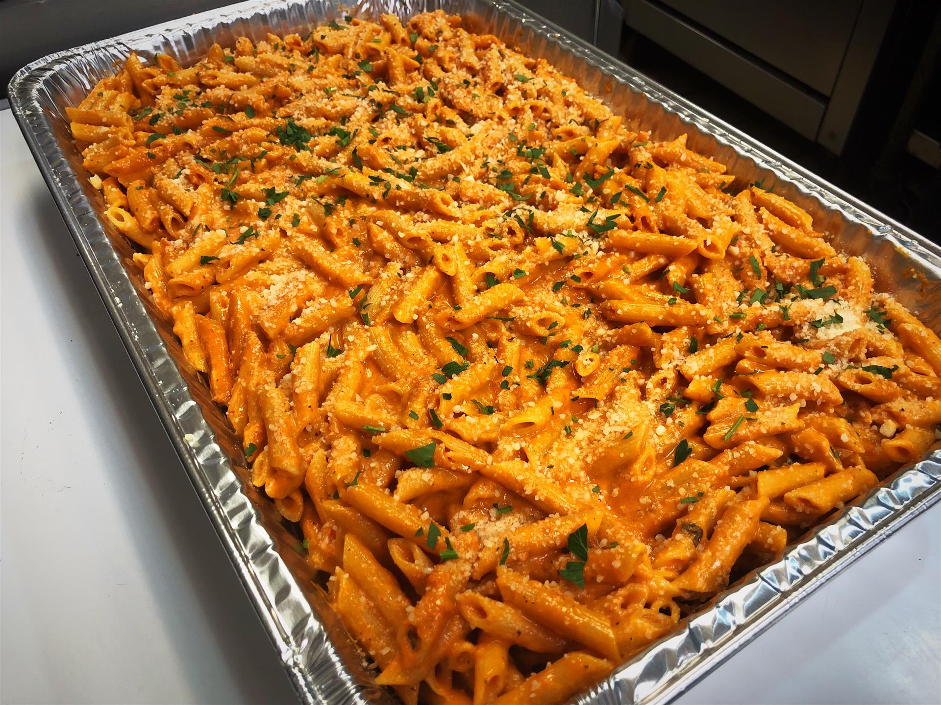 Penne vodka tray