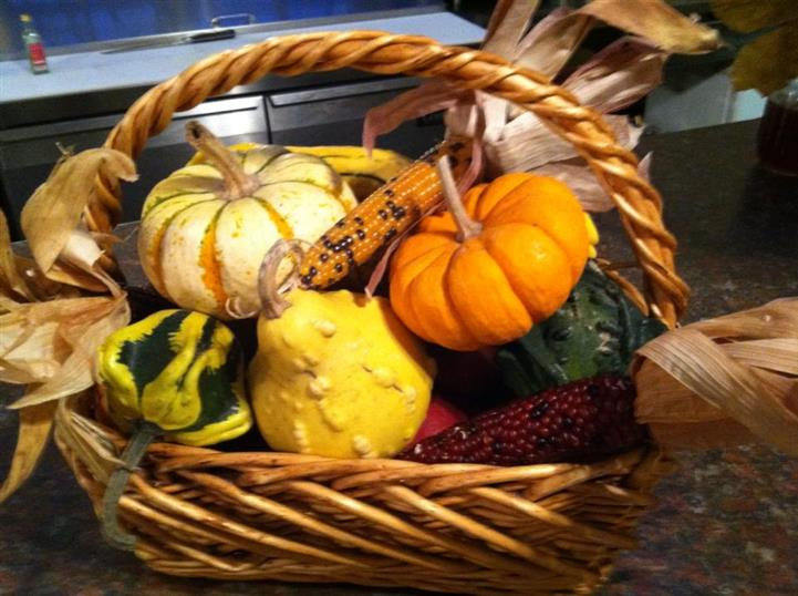 Squash in baskets