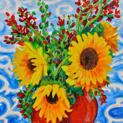 gary blake sunflower painting