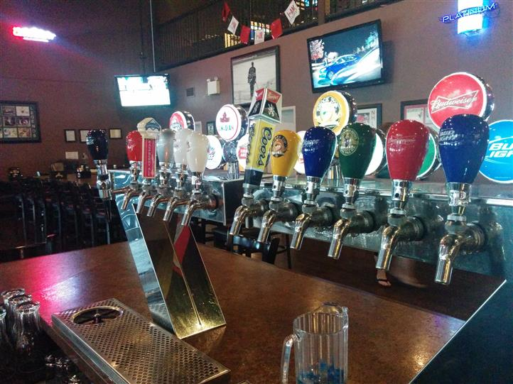 Beer taps with different brand