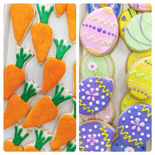 carrot decorated cookies