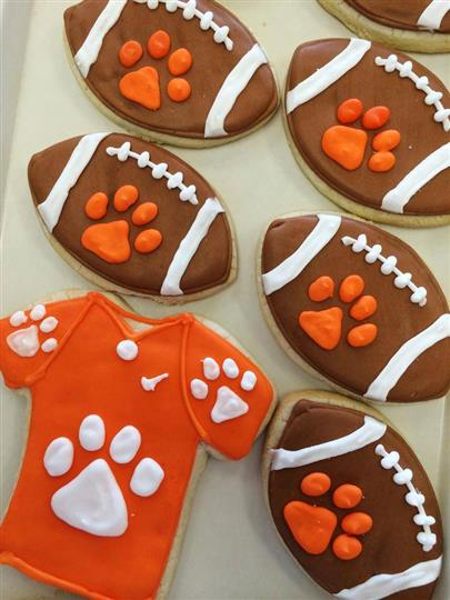 football decorated cookies