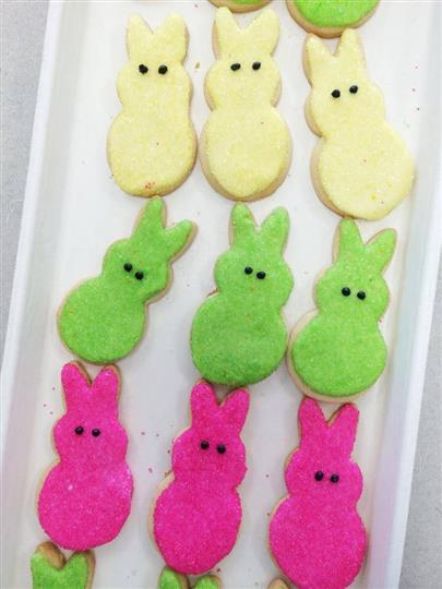rabbit decorated cookies