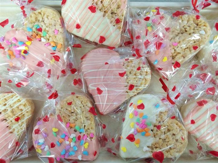 heart-shaped treats