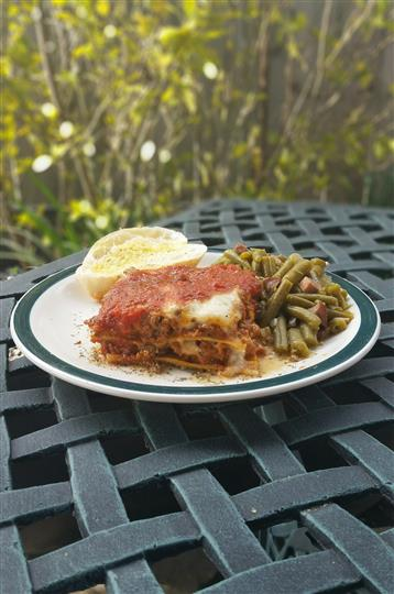 Lasagna with string beans