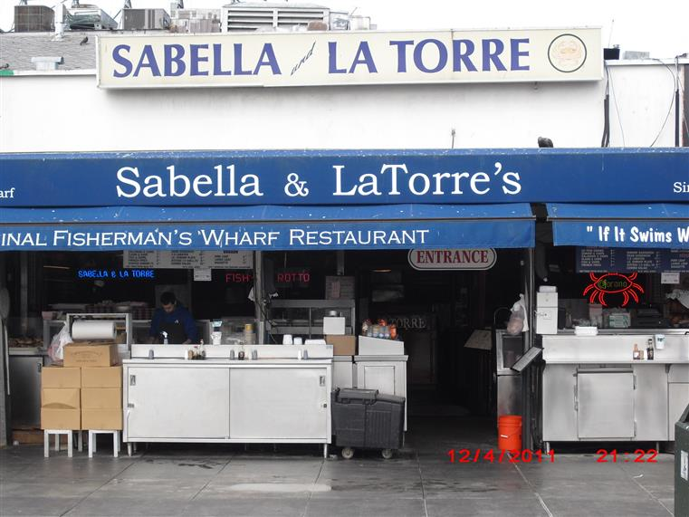 Sabella & La Torre's sign over front entrance