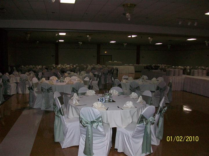 Tables all setup identically for an event