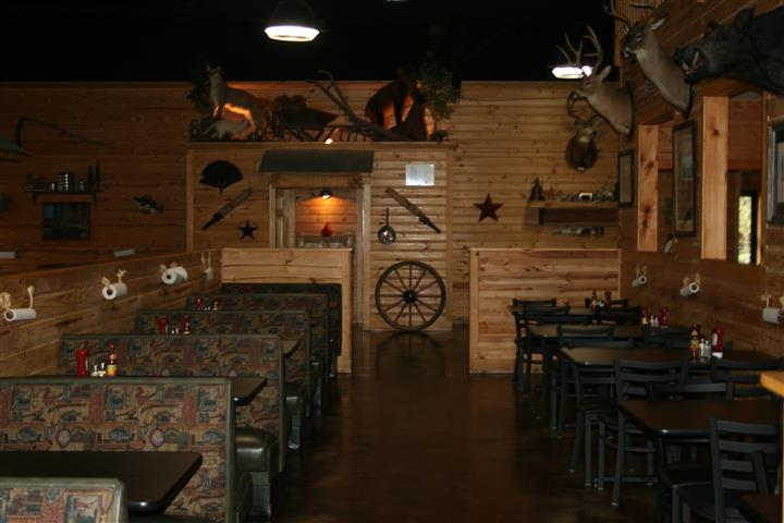 Dining area of restaurant