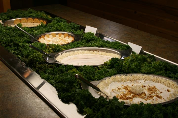 pies in different platters