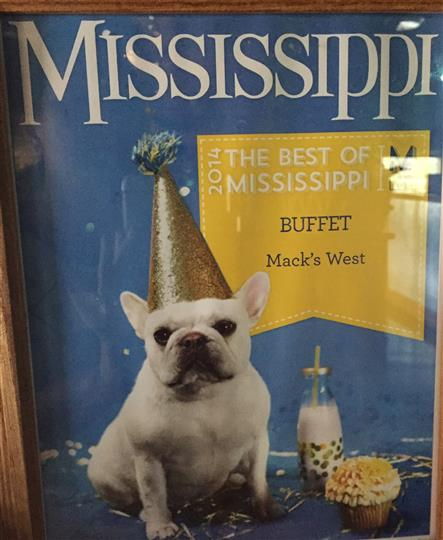 The best of Mississippi buffet. Mack's West