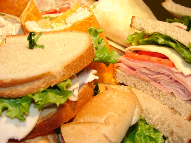 a variety of different sandwiches