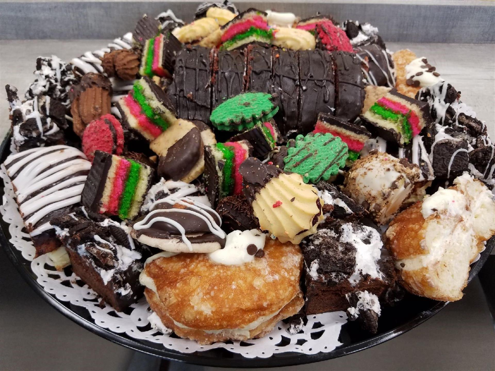 assorted italian cookies on a platter