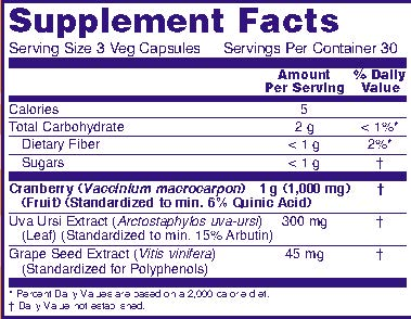 Name: 4632 Cranberry Extract 90 vc V8 Facts 11-8-2013