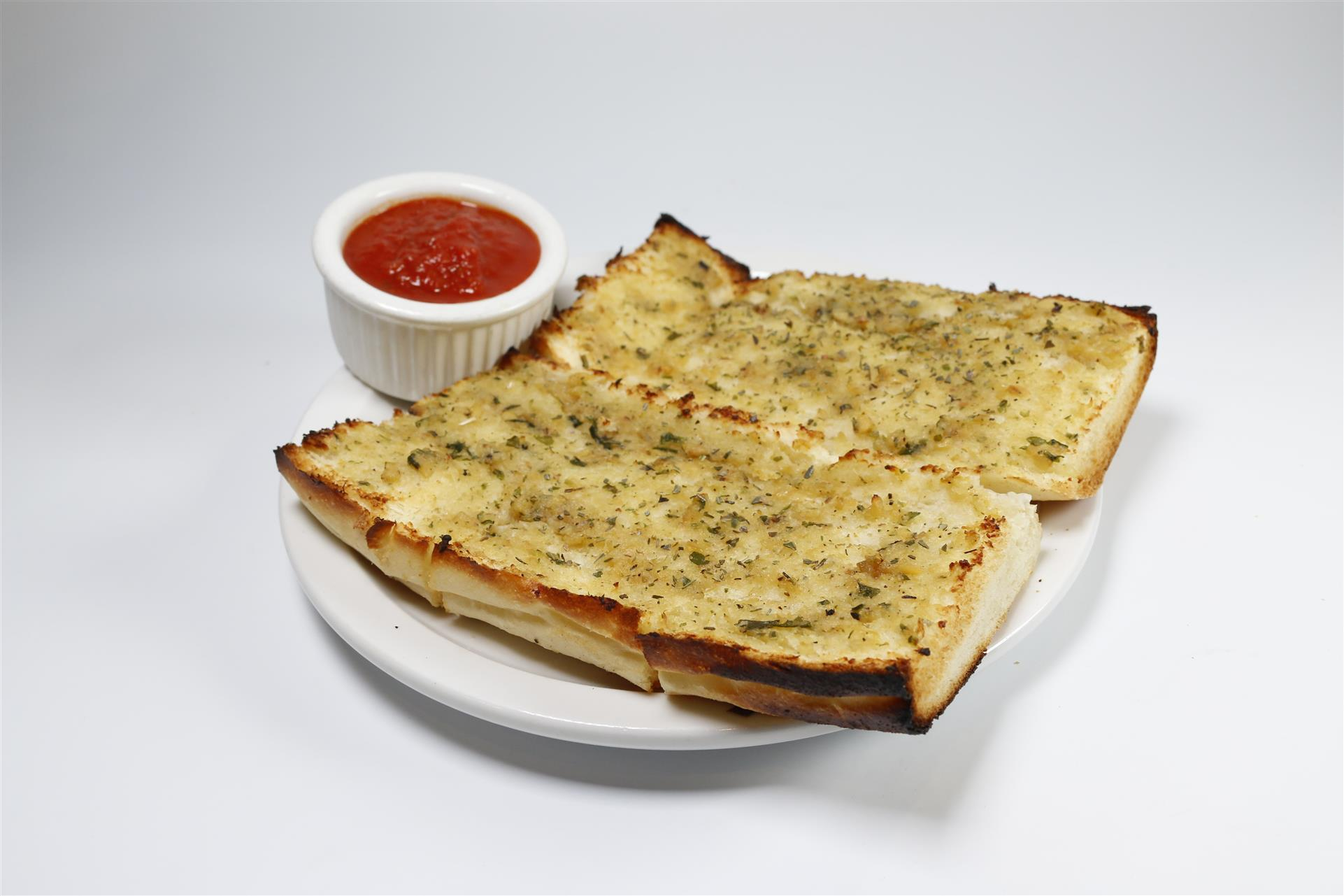 Garlic Bread with a side of marinara sauce