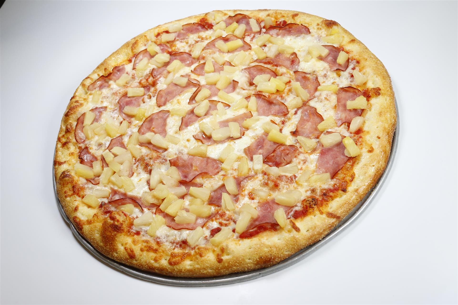 Tomato Sauce, Mozzarella, Canadian Bacon, Pineapple