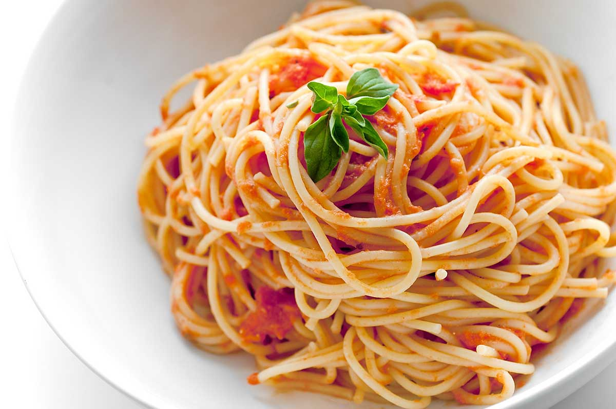Spaghetti with Marinara Sauce  ( Vegetarian)