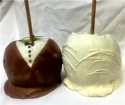Choclate covered apples