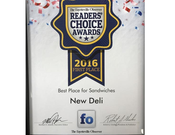 2016 1st place readers choice award
