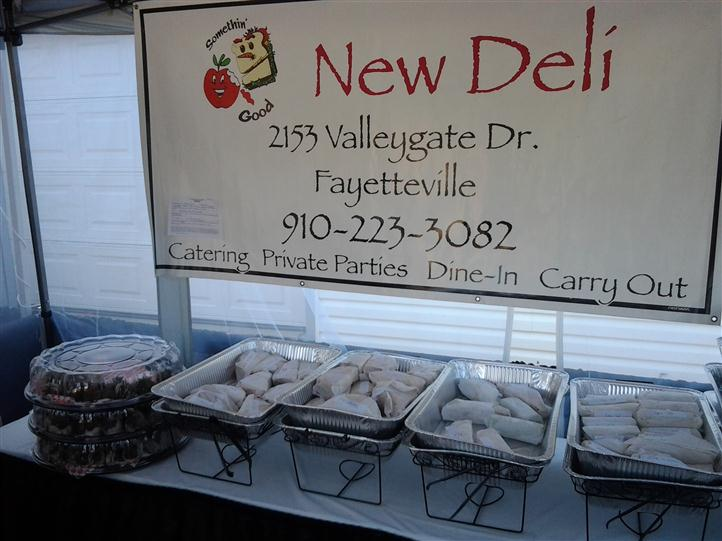 Trays and new deli sign