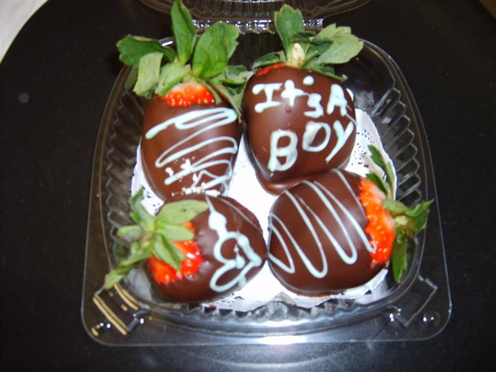 4 chocolate covered strawberries