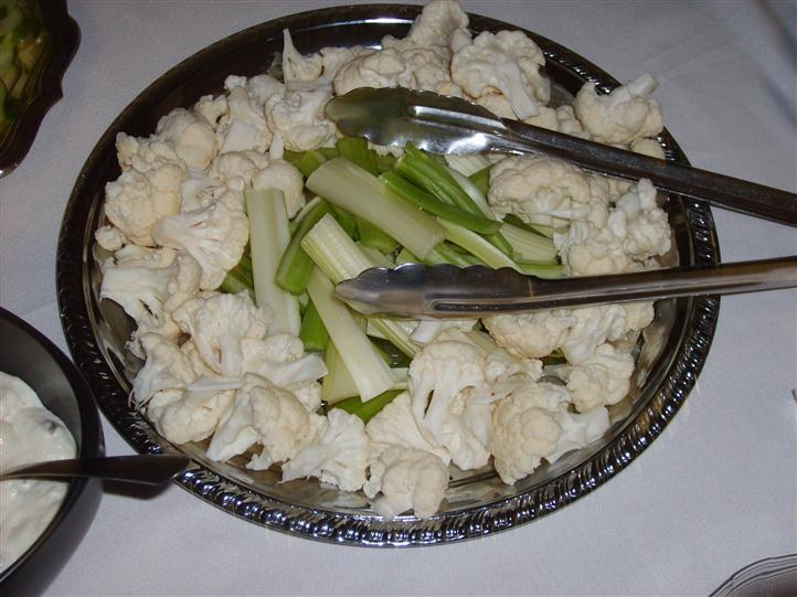 Cauliflower and celery