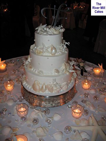 Candles and wedding cake