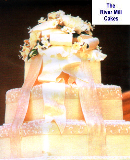 Wedding cake close up