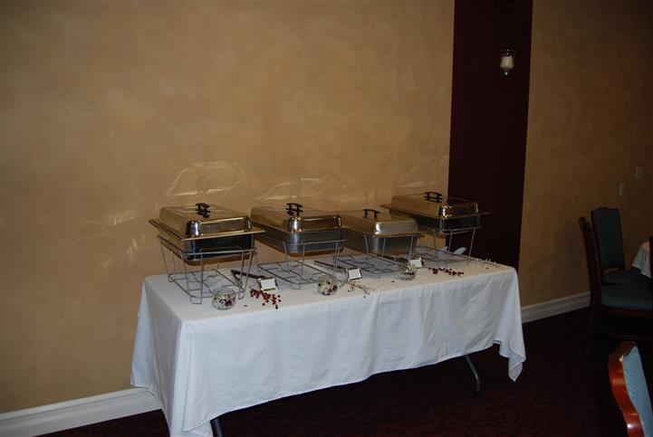 Catering table with stoves