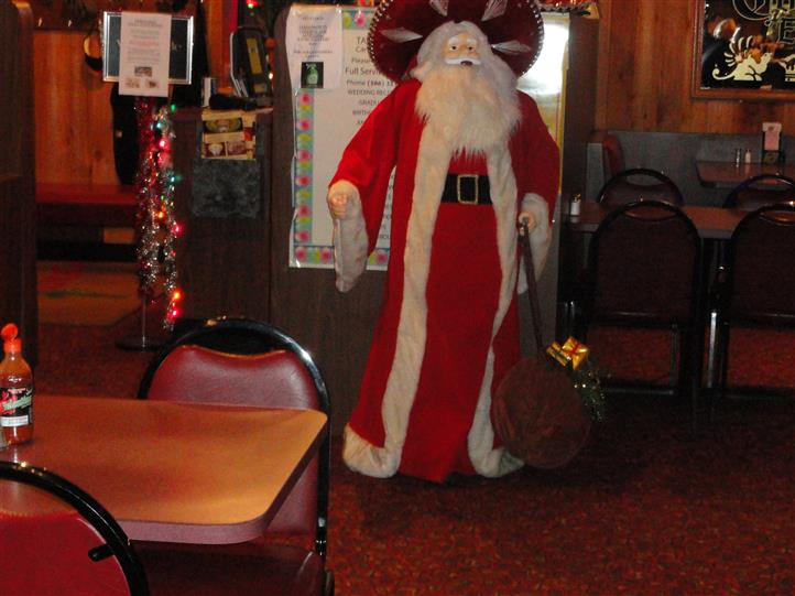 Santa at dining area