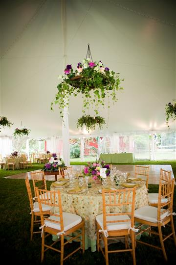 Party tent set up for a event