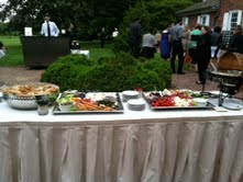 Catering table outdoor