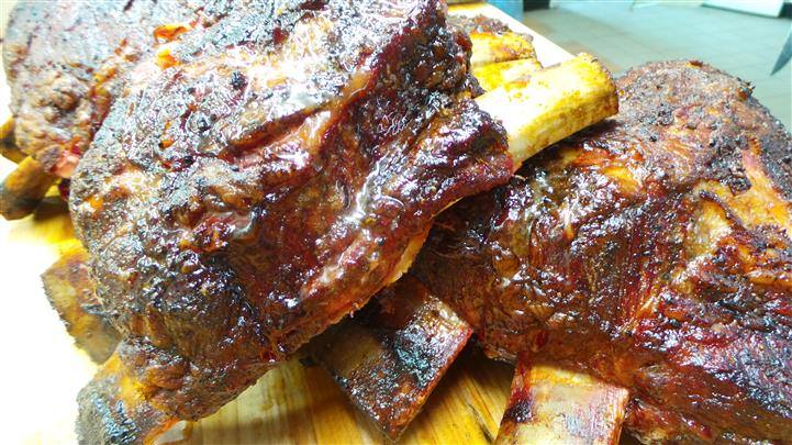 Ribs stacked on each other