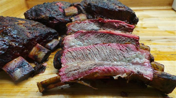 Cut Ribs on a cutting board