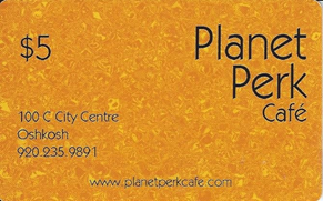 planet perk cafe $5 gift card
