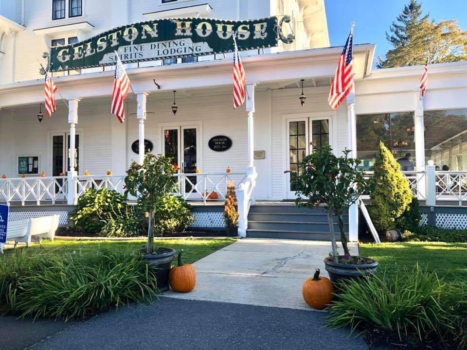front entrance to gelston house