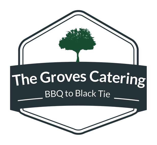 The Groves Catering.  Barbeque to black tie.