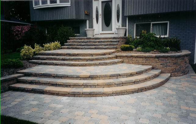 stone walkway with many small steps