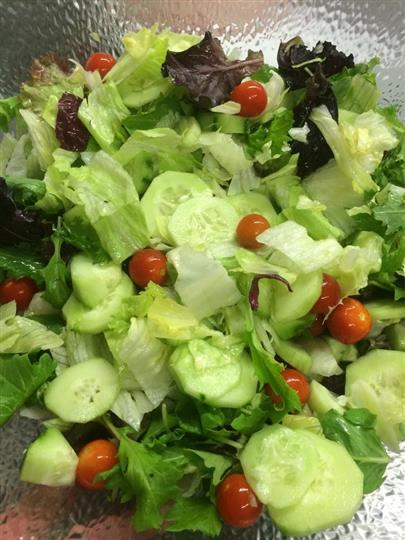 salad with cucumber and tomato