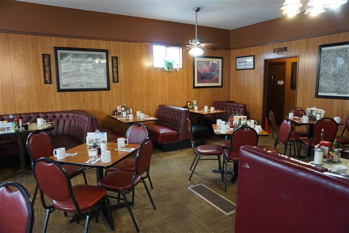 Dining area of diner