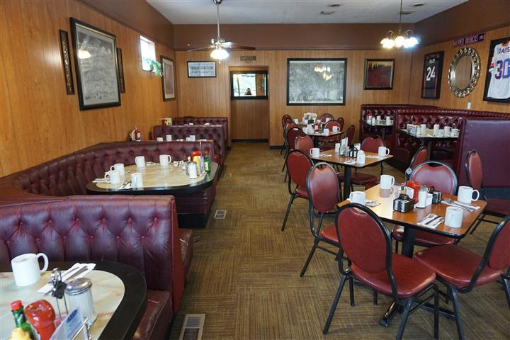 Dining area of establishment