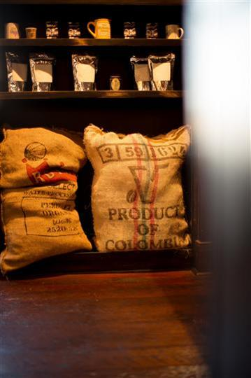 two big bags of coffee beans